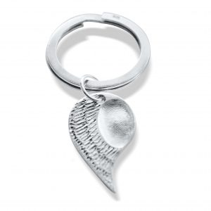 Angel Wing Fingerprint Keyring