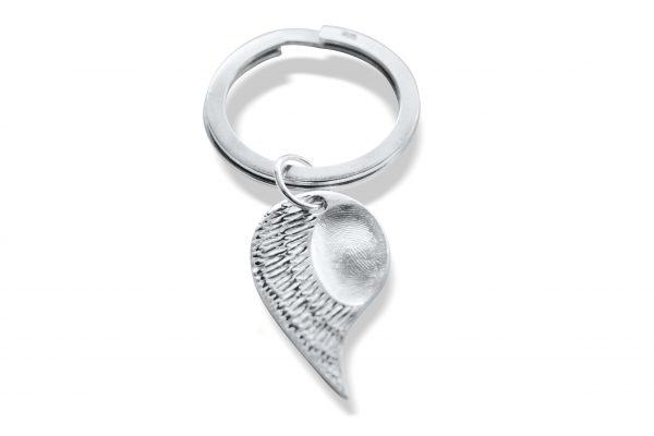 fingerprint keyring angel wing