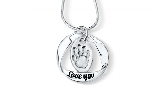 Handprint Necklace - Love You