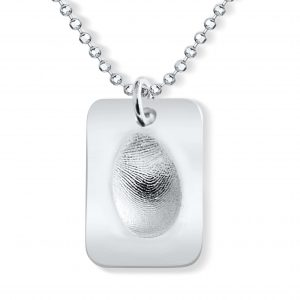 dog tag fingerprint necklace