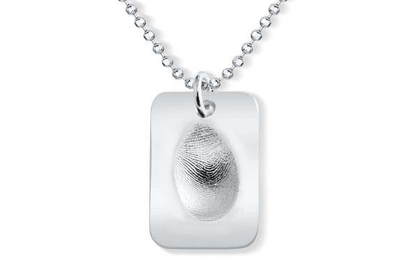dog tag fingerprint necklace