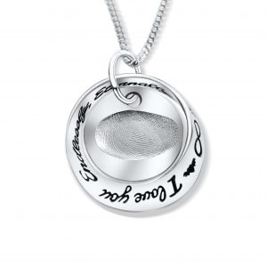 fingerprint pendant i love you