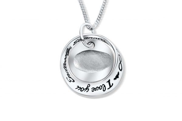 fingerprint pendant i love you