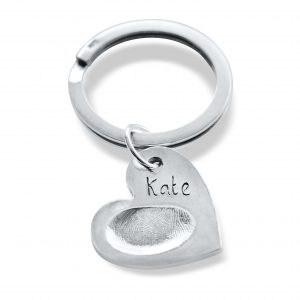 Heart Shaped Fingerprint Keyring