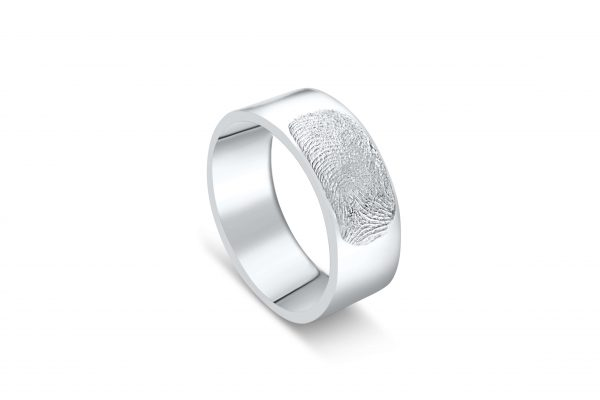Silver Ring with Fingerprint
