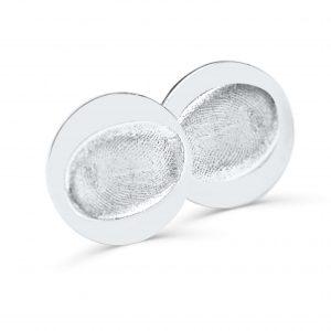 Circular Cufflinks with Fingerprint