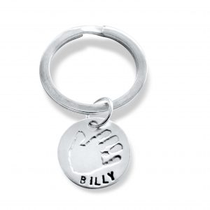 Circular Keyring with Hand and Footprints