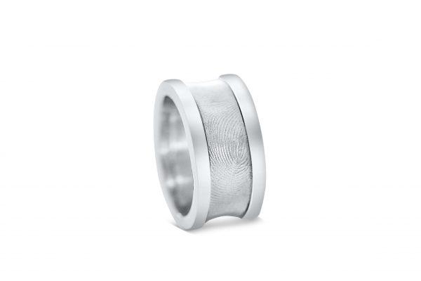 Silver Fingerprint Ring