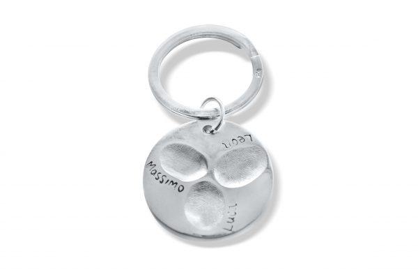 Personalised Circle Keyring with Fingerprints