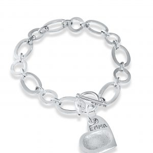 link charm bracelet with fingerprint