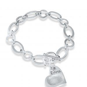 link charm bracelet with fingerprint