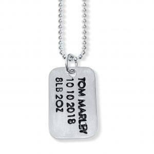 Dogtag Pendant with Name