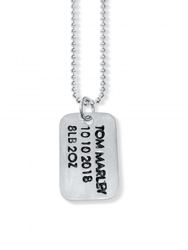 engraved dog tag pendant
