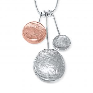 Silver and Copper Longdrop Pendants
