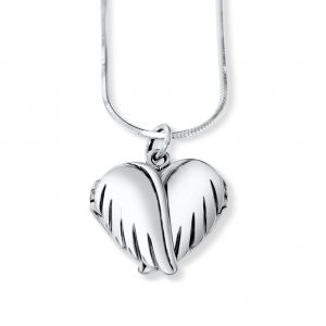 personalised locket angel wings