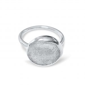 Chunky Nugget Fingerprint Ring
