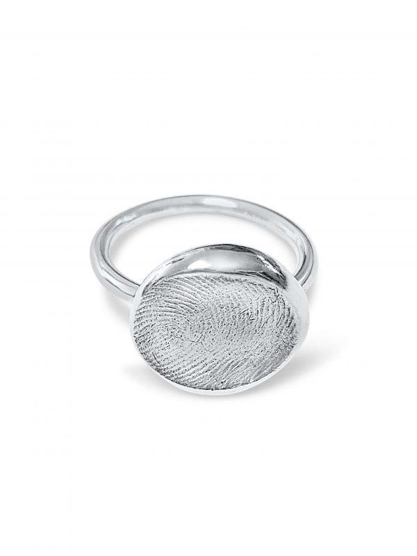 Circle Fingerprint Ring