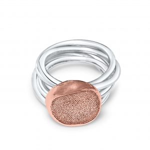 Stackable Ring with Fingerprint
