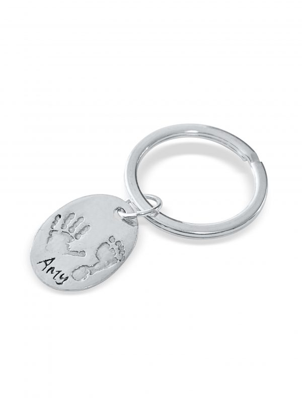 Unique Gift Idea - Keyring with Handprint and Footprint