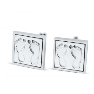 Square Footprint Cufflinks with Border