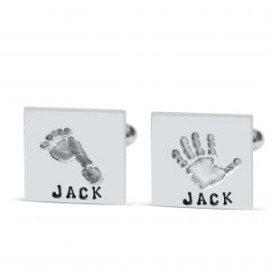 personalised square cufflinks