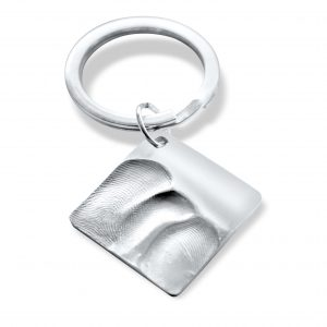 Square Fingerprint Keyring