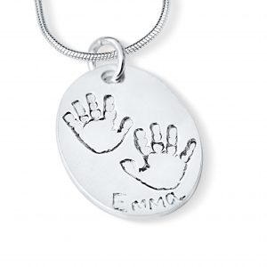 Baby Handprint or Footprint Necklace